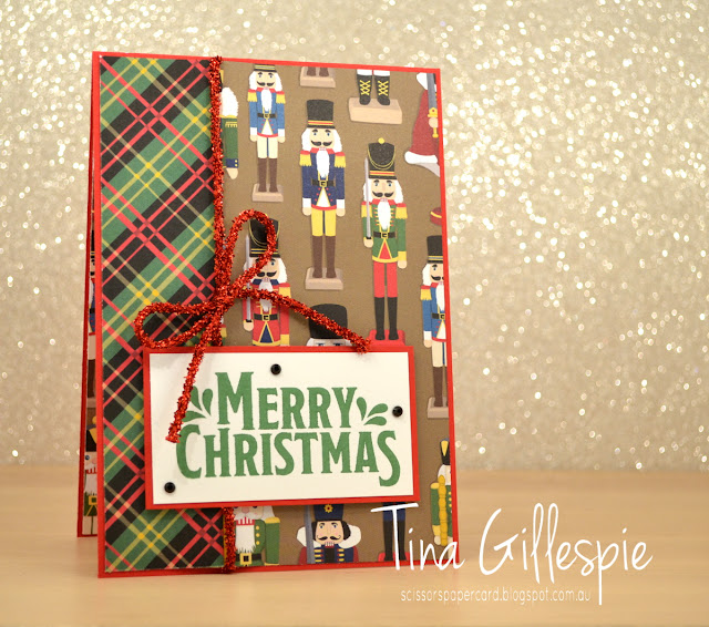scissorspapercard, Stampin' Up!, Art With Heart, Christmas Around the World DSP, Merry Mistletoe, Hearts Come Home