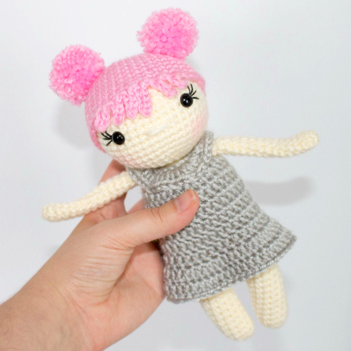 Amigurumi Doll Body Pattern, Crochet Mini Amigurumi Doll, Little ... | 1200x1200
