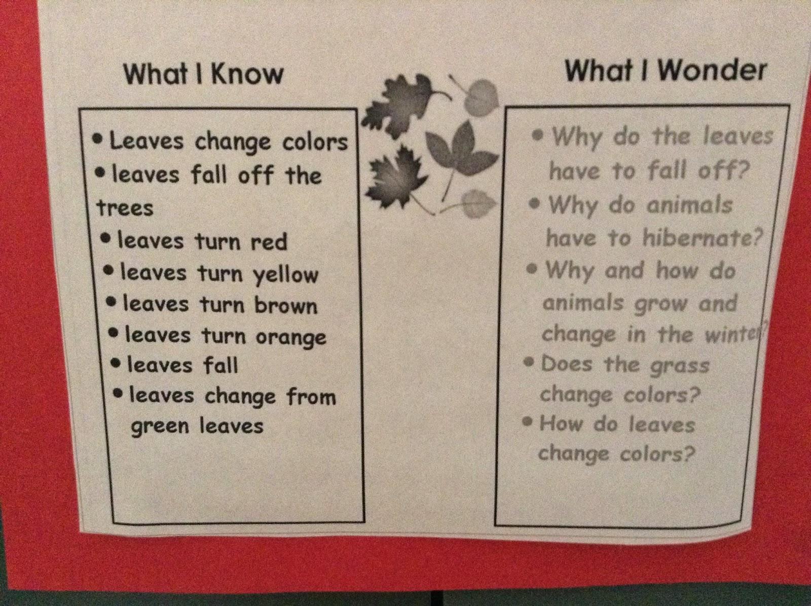 Project Kindergarten Fall Leaves Unit