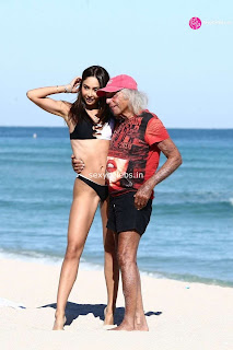 Patricia Contreras in tiny wet black bikini Beach Side Celebs.in Exclusive 018