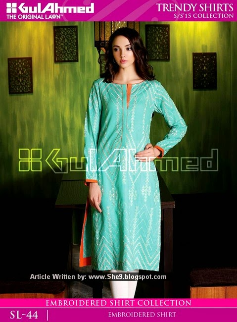 Gul Ahmed's Shirts for College and Office Girls