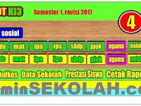 Download Aplikasi Raport K13 Kelas 4 SD Semester 1 Tahun Pelajaran 2018/2019 Terbaru