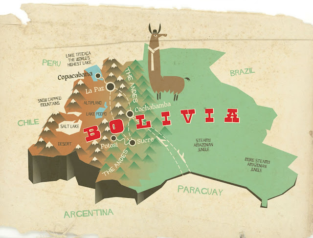 geographical map of bolivia - photo #19