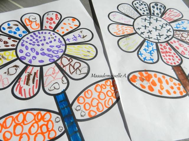 || Activité graphique ; Fleurs colorées