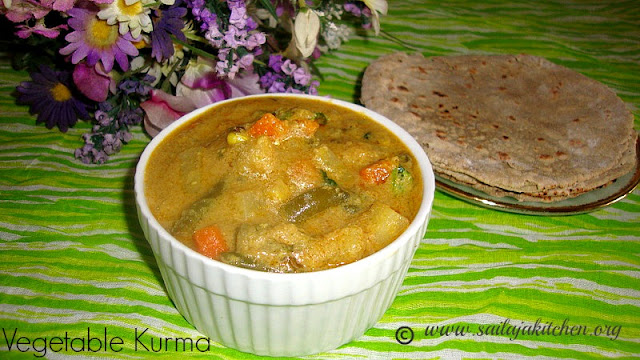 images of Mixed Vegetable Kurma Recipe / Vegetable Kurma Recipe