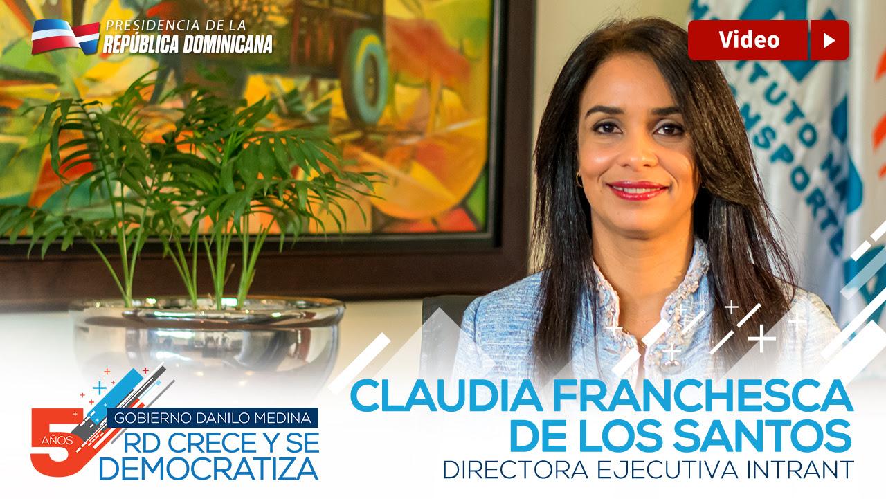 Claudia Franchesca De Los Santos, directora ejecutiva INTRANT