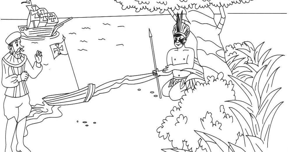Desenho Sobre O Descobrimento Do Brasil desenho sobre o
