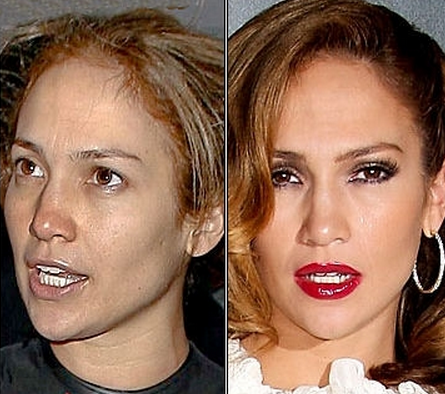 Jennifer Lopez Tanpa Make Up