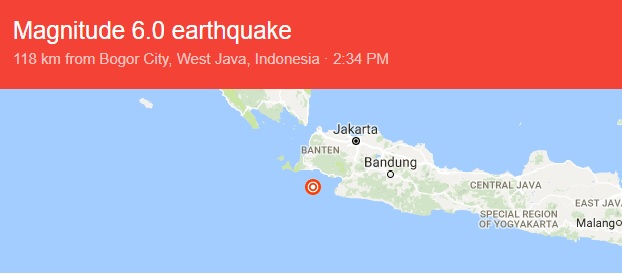 Indonesia Dilanda Gempa Bumi Lebih 6 Skala Hektar