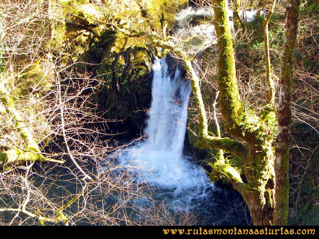 Ruta Pico Vízcares: Pequeño salto de agua sobre el río infierno