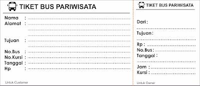 Kumpulan contoh tiket bus parisiwata lengkap dan gratis
