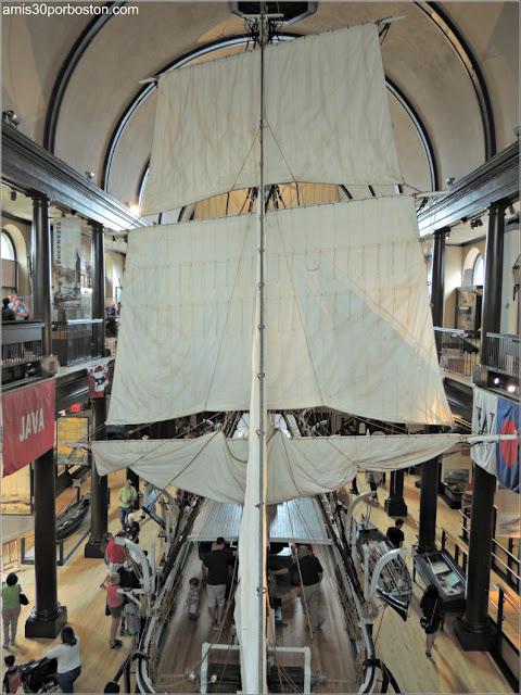Maqueta del Lagoda en el Museo de Ballenas de New Bedford, Massachusetts