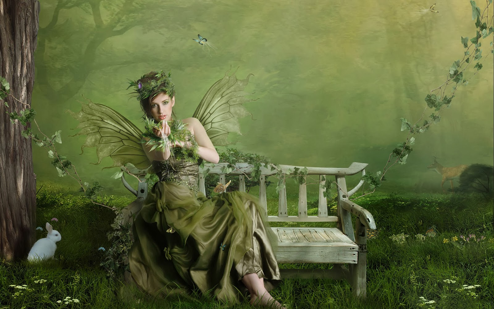 green angel in springtime - photo #9