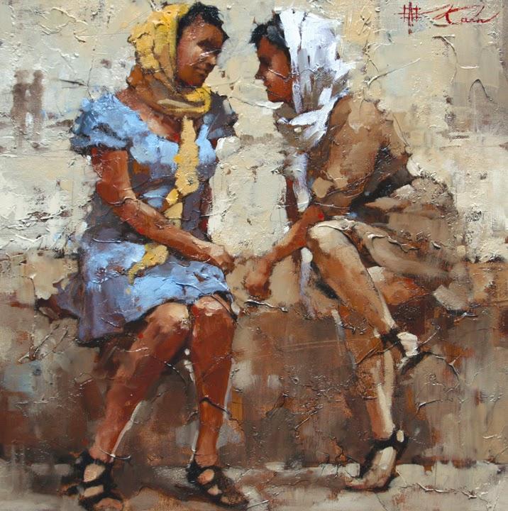Fofocando - Andre Kohn e suas pinturas - Impressionismo Figurativo