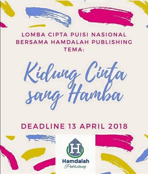 Lomba Cipta Puisi Nasional 2018 Hamdalah Publishing