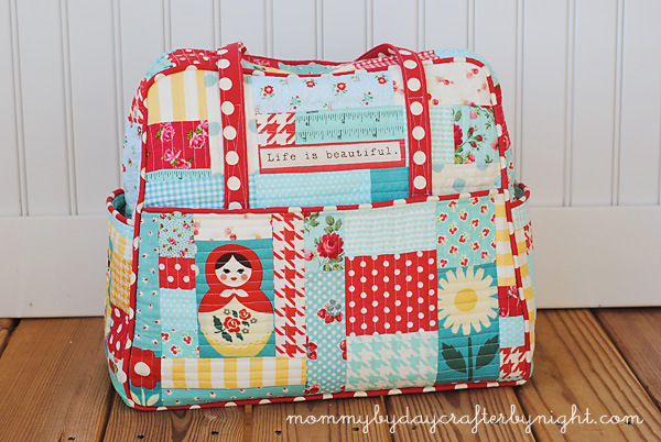 Mommy By Day Crafter Night My Quilted Weekender Bag