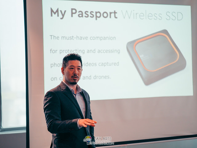 Mr Albert Chang, WD Regional Product Marketing sharing about WD My Passport Wireless SSD