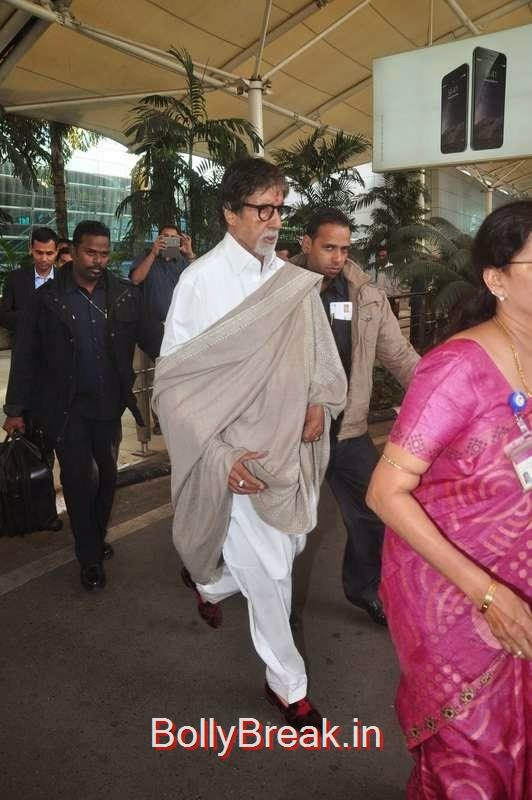 Amitabh Bachchan snapped at the airport, Sunny Leone, Neha Dhupia, Sonakshi Sinha Snapped At DIfferent Events