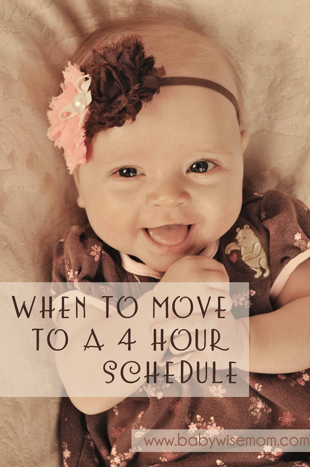 When to move to a four hour schedule
