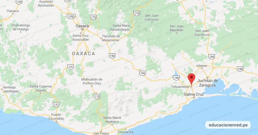 Temblor en México de Magnitud 4.1 (Hoy Domingo 27 Octubre 2019) Sismo - Epicentro - Tehuantepec - Oaxaca - OAX. - SSN - www.ssn.unam.mx
