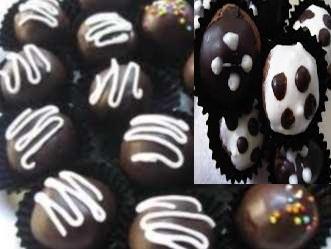 gambar kue bola-bola cokelat dan cara membuatnya