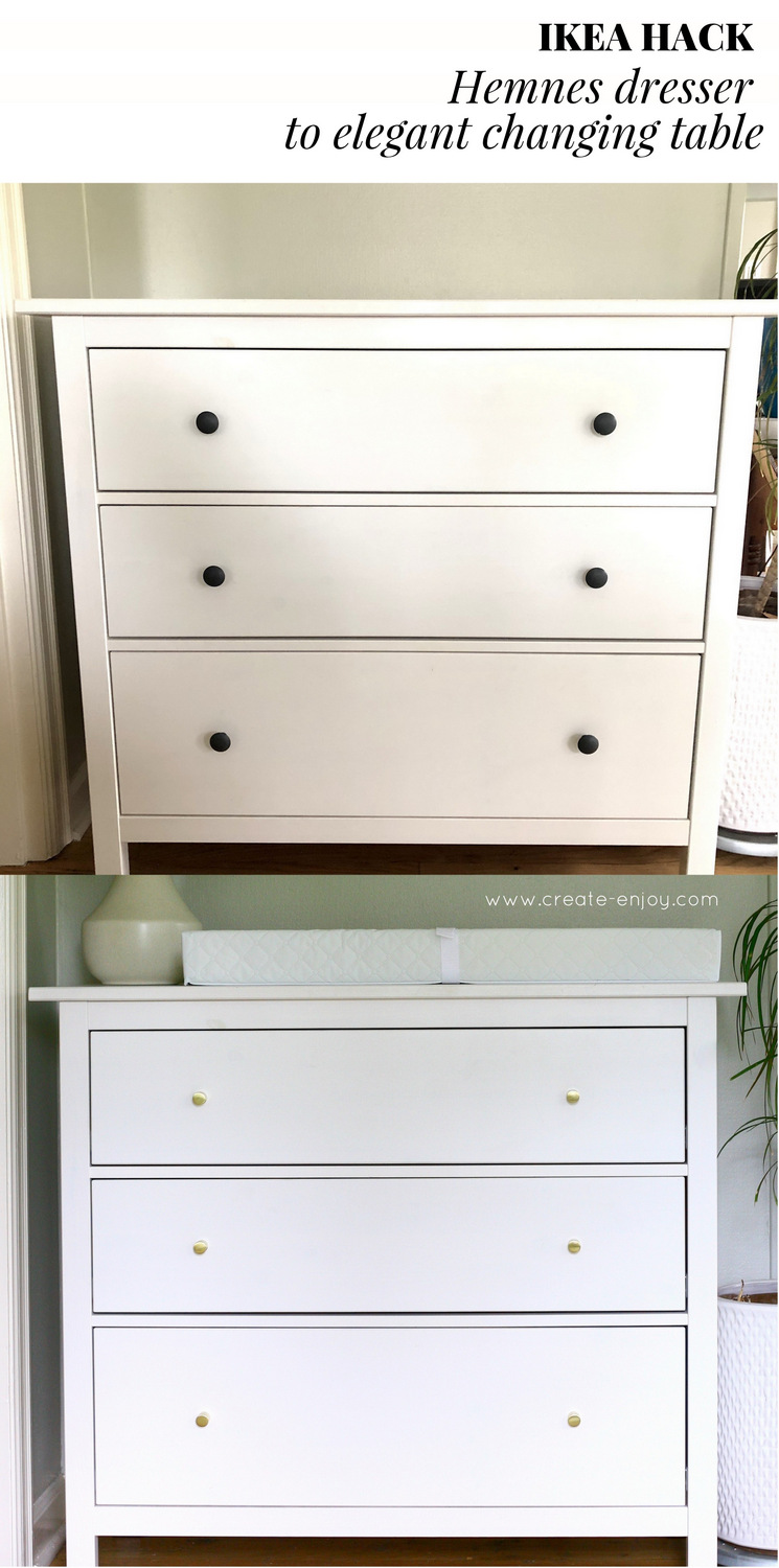 IKEA Hack: Hemnes Dresser To Elegant Changing Table!