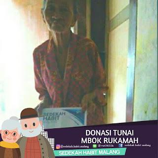 Mbok Rukamah : Donasi Tunai