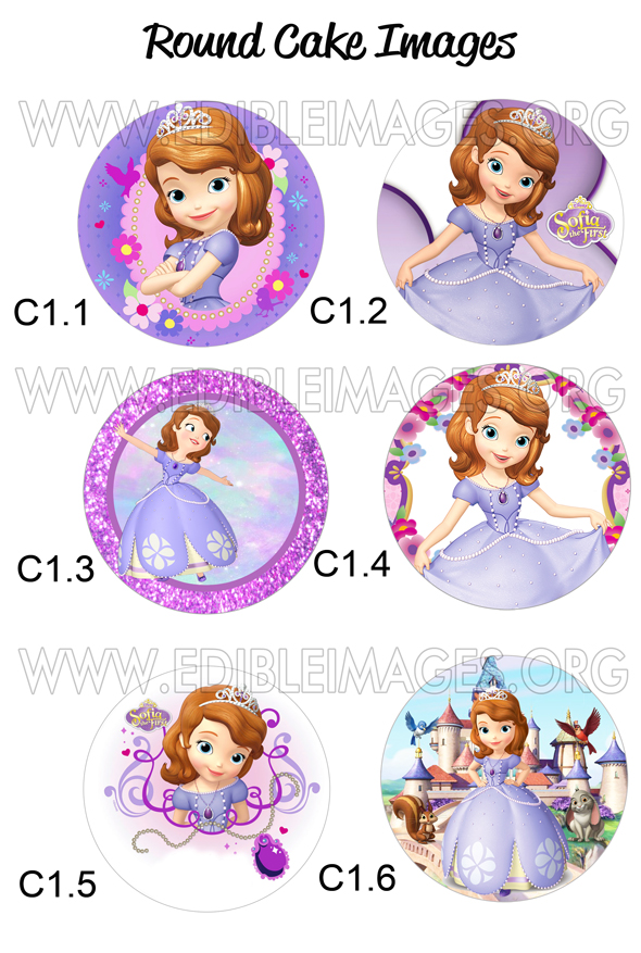 Edible Image Sofia The First