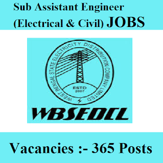 West Bengal State Electricity Distribution Company Limited, WBSEDCL, WB, West Bengal, Graduation, Sub Assistant Engineer, freejobalert, Sarkari Naukri, Latest Jobs, wbsedcl logo