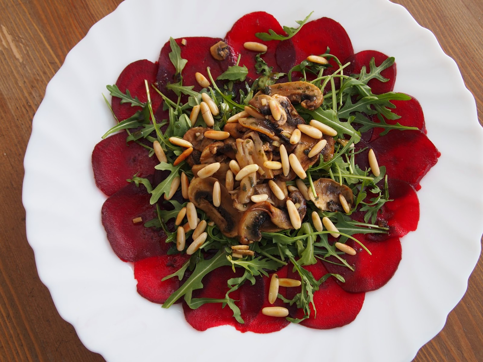 Try To Cook Vegan Rote Bete Carpaccio