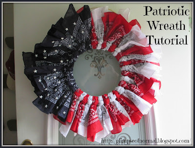 Patriotic Wreath Tutorial, A Glimpse of Normal Blog