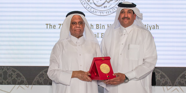 H.E. Abdulaziz Bin Ahmed Al-Malki, Ambassador of the State of Qatar to Italy, wins the 2019 Abdullah Bin Hamad Al-Attiyah International Energy Award for the Advancement of the Qatar Energy Industry.