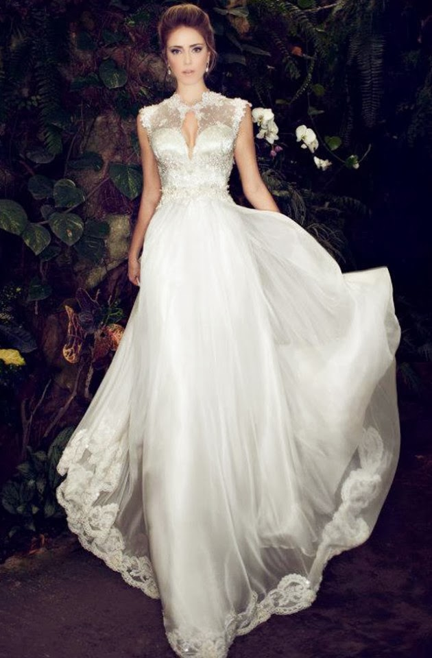 Hermosos Vestidos de novia elegantes   Moda 2014   Vestidos   Moda ...