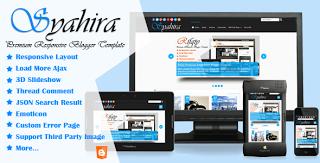 Shahira Premium blogger template