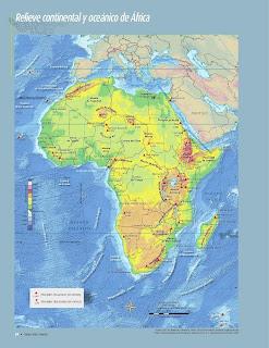 Apoyo Primaria Atlas de Geografía del Mundo 5to. Grado Capítulo 2 Lección 1 Relieve Continental y Oceánico de África