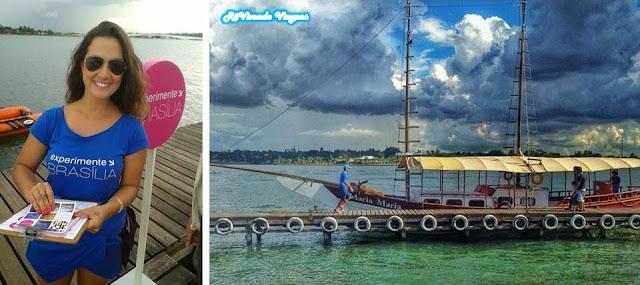passeio de barco no lago Paranoá