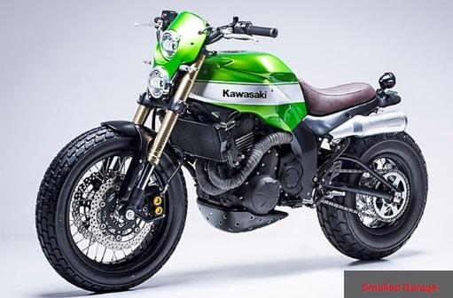 Modifikasi Motor Kawasaki Ninja 650 dengan Gaya Scrambler
