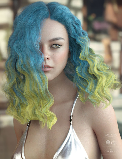 Vance Hair for Genesis 3 and 8 Female