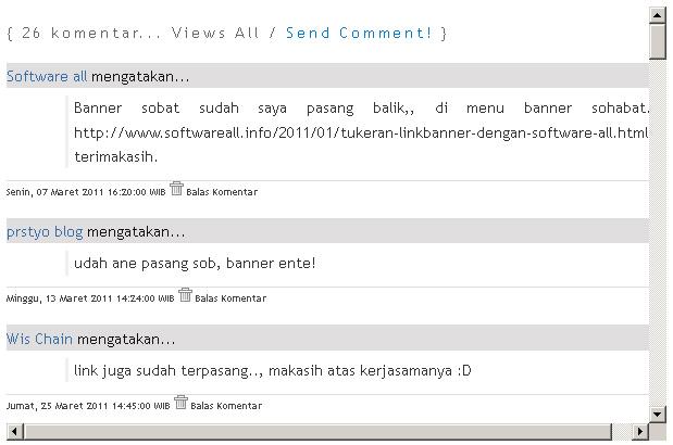 Cara Membuat Fungsi Scroll pada Daftar Komentar Blog