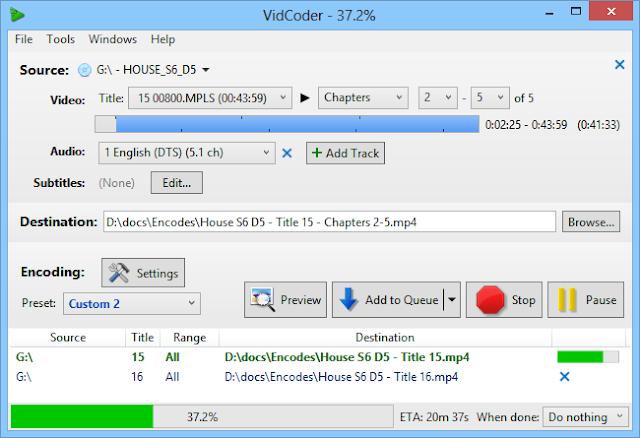 تحميل برنامج VidCoder لتحويل الفيديو الى MP4 -MKV