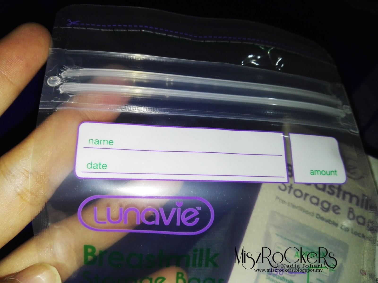 PLASTIK SIMPANAN SUSU DARI LUNAVIE MENJIMATKAN RUANG ( BREASTMILK STORAGE BAGS )