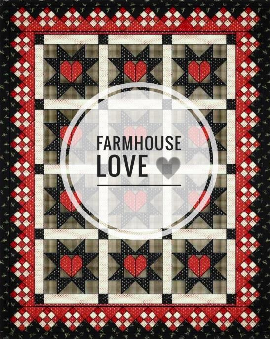 Helpful Farmhouse Love Step by Step Pictorial for setting triangle border ~ Click on quilt