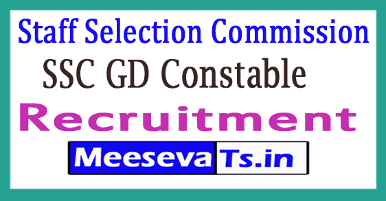 Staff Selection Commission GD Constable Recruitment Notification 2017