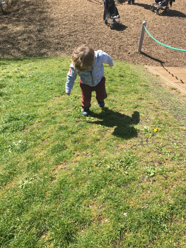 toddler-climbing-grassy-hill-in-roath-park-cardiff