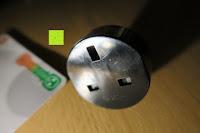 Adapter hinten: Andrew James 3,5L Sizzle to Simmer 2 in 1 Digitaler Schongarer mit Entnehmbarer Aluminiumbratpfanne – Zum Braten, scharf Anbraten, Sautieren und Dämpfen – 2 Jahre Garantie
