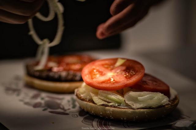 Постный бургер