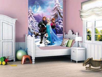 Kamar Anak Perempuan Tema Disney Frozen