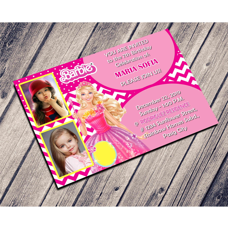 Barbie Birthday Invitation Pinoycyershop