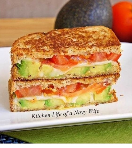 Mozzarella Grilled Cheese With Avocado & Tomato