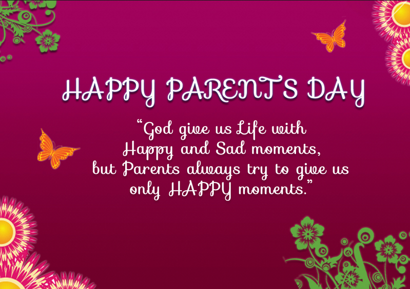 Special Happy Parents Day Status Quotes Images | Whatsapp Status ...